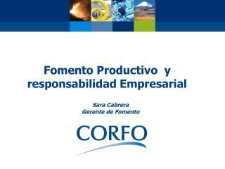 Fomento Productivo  y responsabilidad Empresarial