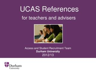 UCAS References for teachers and advisers