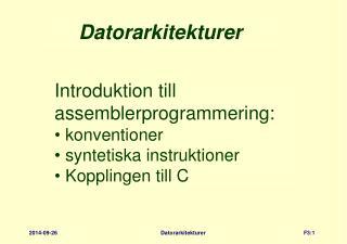 Datorarkitekturer