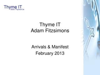 Thyme IT Adam Fitzsimons