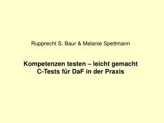 Was ist ein C-Test?