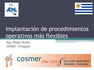 Implantación de procedimientos operativos más flexibles