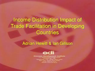 Income Distribution Impact of Trade Facilitation in Developing Countries