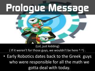 Prologue Message
