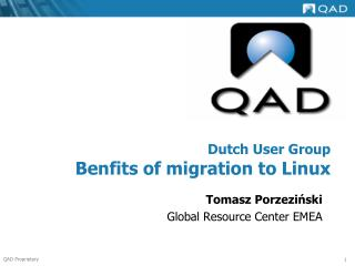 Dutch User Group Benfits of migration to Linux