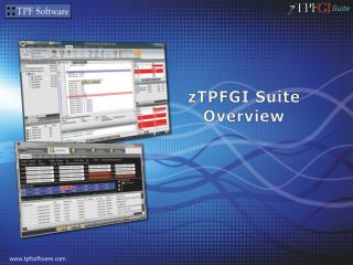 zTPFGI Suite Overview