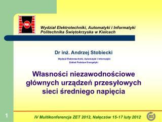 Wydział Elektrotechniki, Automatyki i Informatyki Politechnika Świętokrzyska w Kielcach