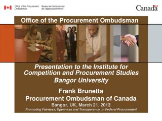Office of the  Procurement  Ombudsman