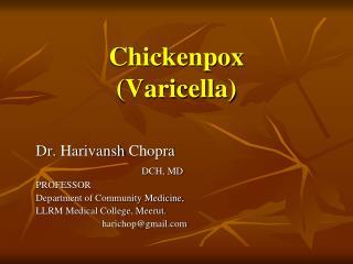 Chickenpox (Varicella)