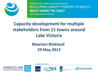 Capacity development for multiple stakeholders from 11 towns  around  Lake  Victoria