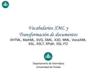 Departamento de Informática Universidad de Oviedo