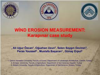 WİND EROS I ON MEASUREMENT:  Karapınar case study