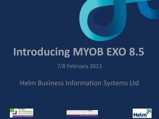 Introducing MYOB EXO 8.5