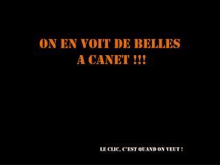 ON EN VOIT DE BELLES  A CANET !!!