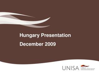 Hungary Presentation December 2009