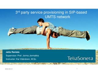 3rd party service provisioning in SIP-based    UMTS network