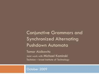 Conjunctive Grammars and Synchronized Alternating Pushdown Automata