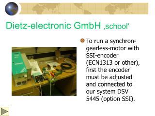 Dietz-electronic GmbH  'school'