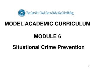 MODEL ACADEMIC CURRICULUM  MODULE 6