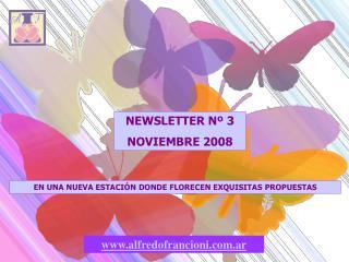 NEWSLETTER N� 3 NOVIEMBRE 2008