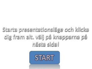 Starta presentationsläge och klicka dig fram alt. välj på knapparna på nästa sida!