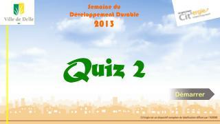 Semaine du Développement Durable 2013