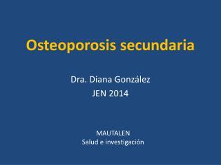 Osteoporosis secundaria