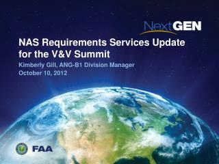 NAS Requirements Services Update for the V&V Summit