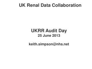 UK Renal Data Collaboration