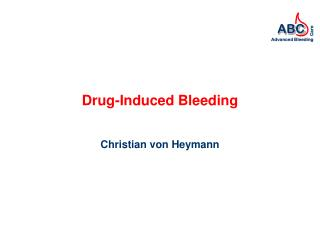 Drug-Induced Bleeding