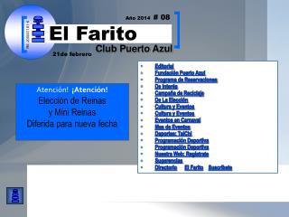 Editorial Fundación Puerto Azul  Programa de Reservaciones De Interés Campaña de Reciclaje