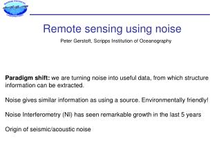 Remote  sensing using  noise