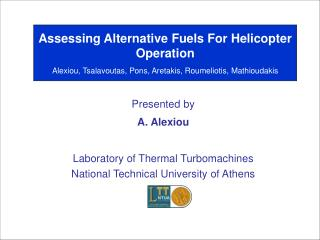 Assessing Alternative Fuels For Helicopter Operation