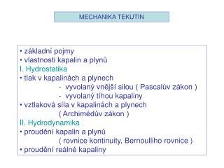 MECHANIKA TEKUTIN