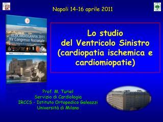 Prof. M. Turiel Servizio di Cardiologia IRCCS  - Istituto Ortopedico Galeazzi