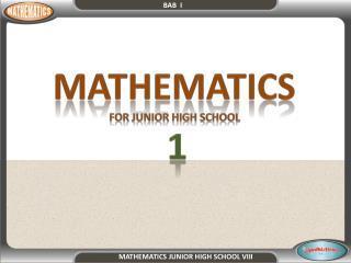 MATHEMATICS  FOR JUNIOR HIGH SCHOOL