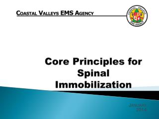 Core Principles for Spinal Immobilization