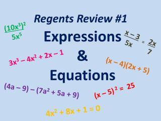 Regents Review #1