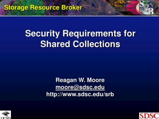 Security Requirements for Shared Collections