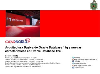 Arquitectura Básica de Oracle Database 11g y nuevas características en Oracle Database 12c