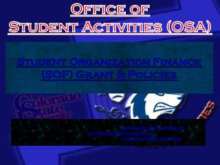 Office of  Student Activities (OSA)