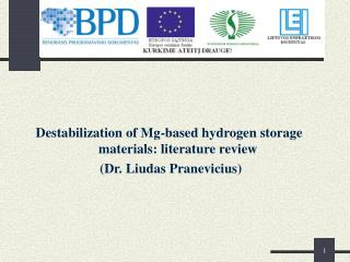 Destabilization of Mg-based hydrogen storage materials: literature review
