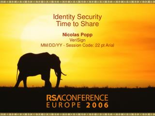 Identity Security Time to Share