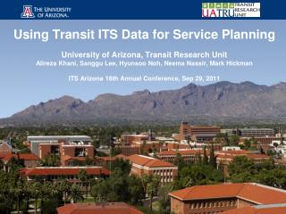 Using Transit ITS Data for Service Planning