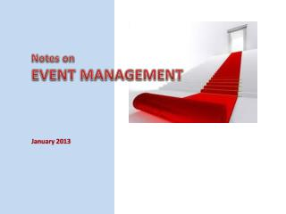 Notes on EVENT MANAGEMENT