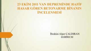 ?brahim Alper �ALDIRAN 010090130