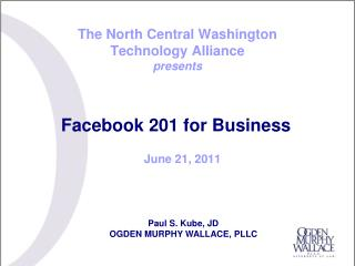 The North Central Washington  Technology Alliance presents