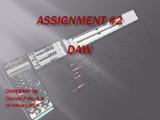 Assignment #2 DAW