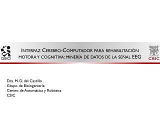 Dra. M. D. del  Castillo Grupo de Bioingeniería Centro de Automática y Robótica CSIC