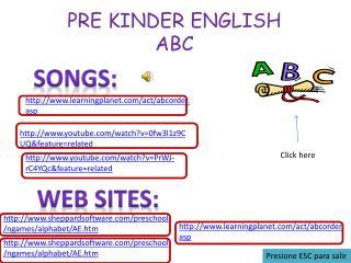 PRE KINDER ENGLISH ABC